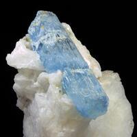 Aquamarine On Albite