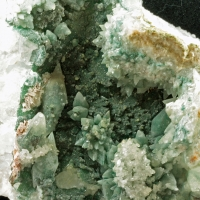 Calcite With Celadonite
