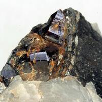 Cassiterite On Wolframite