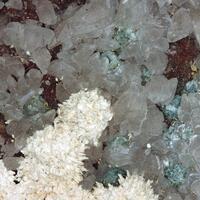 Baryte Calcite & Sphalerite