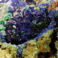 Azurite Malachite & Bayldonite