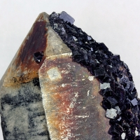 Fluorite On Smoky Quartz