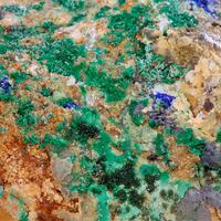 Zincolivenite Duftite Malachite & Azurite