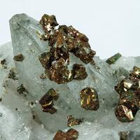 Chalcopyrite On Calcite
