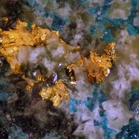 Native Gold & Atacamite