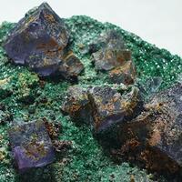 Cuprite Fluorite & Brochantite