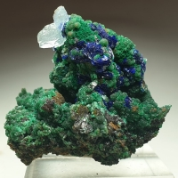 Azurite Malachite Adamite Conichalcite & Aragonite On Copper