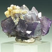 Fluorite Calcite & Malachite