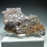 Fluorite Aragonite & Rosasite