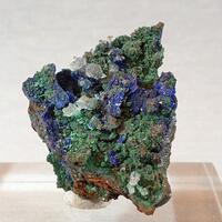 Azurite Malachite Aragonite On Copper