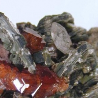 Hessonite Clinochlore & Apatite