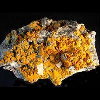 Descloizite On Wulfenite & Hemimorphite