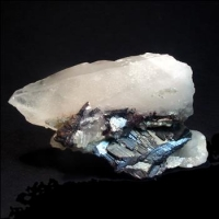 Hübnerite On Quartz