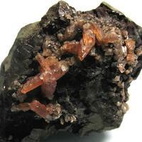 Rhodochrosite On Hisingerite