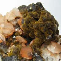 Goethite Var Samtblende & Calcite