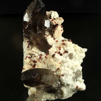 Smoky Quartz Feldspar & Spessartine