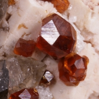 Spessartine Feldspar & Smoky Quartz
