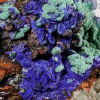 Azurite Malachite Gypsum & Quartz