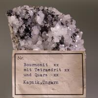 Bournonite Fahlerz Sphalerite & Quartz