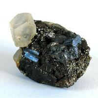 Bournonite With Calcite & Pyrite