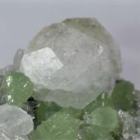 Analcime With Prehnite & Quartz & Calcite