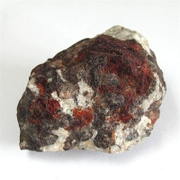 Zincite With Troostite & Calcite