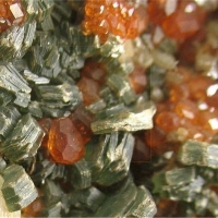 Hessonite With Diopside & Clinochlore