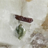 Zircon With Apatite In Calcite