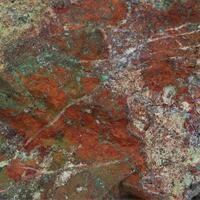 Cinnabar With Azurite & Malachite