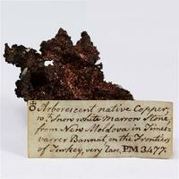 Native Copper With Quartz