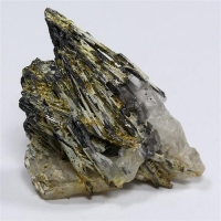Stibnite With Stibiconite & Baryte