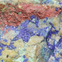 Cinnabar With Mercury Azurite & Malachite