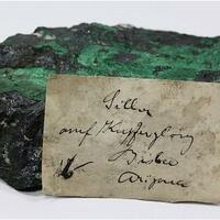 Chalcocite With Silver & Malachite