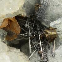 Emplectite With Fluorite & Chalcopyrite & Siderite