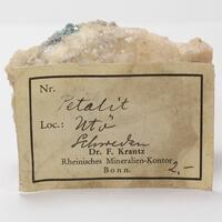 Petalite With Elbaite