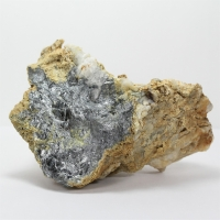 Stibnite With Antimony Ochre