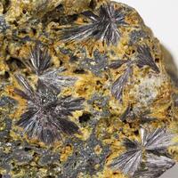 Kermesite With Stibnite & Native Antimony