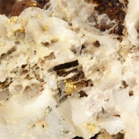 Gold With Limonite & Pyrite
