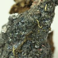 Gold With Skutterudite & Erythrite