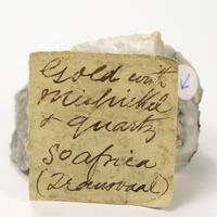 Gold With Arsenopyrite & Quartz