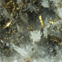 Gold With Quartz & Baryte & Cassiterite