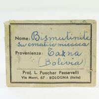 Bismuthinite With Dolomite & Hematite