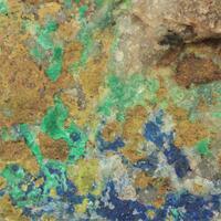 Azurite With Bismuth Ochre & Malachite