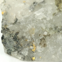 Gold With Tsumoite & Mica Group