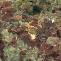 Gold With Malachite & Chrysocolla