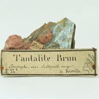 Tantalite With Feldspar & Mica