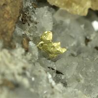 Gold With Siderite & Quartz & Pyrrhotite & Cubanite & Calcite