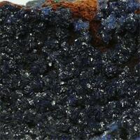 Azurite With Limonite & Malachite