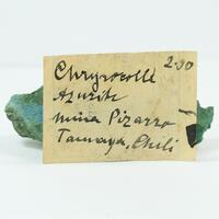 Chrysocolla With Azurite