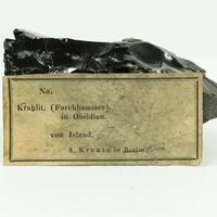 Obsidian With Feldspar